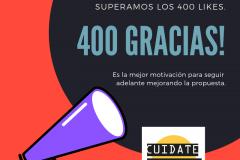 400 GRACIAS!