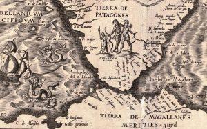 Antiguo mapa de la Patagonia
